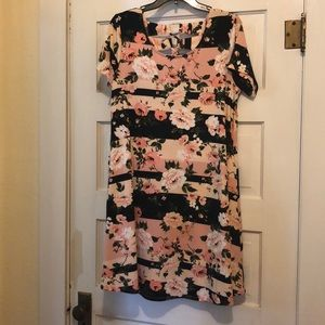 Never worn!! Cute, flowery dress!